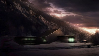 Avoriaz Slate Museum – Night View